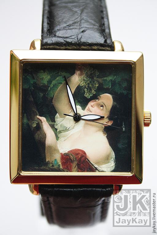 """Часы ручной работы. Ярмарка Мастеров - ручная работа. Купить Часы наручные JK """"Итальянский полдень"""". Handmade. Черный"""