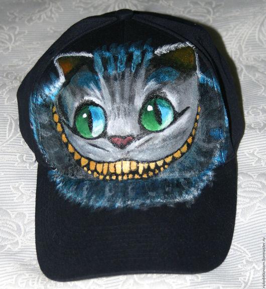 Бейсболка `Чеширский кот`, ручная роспись