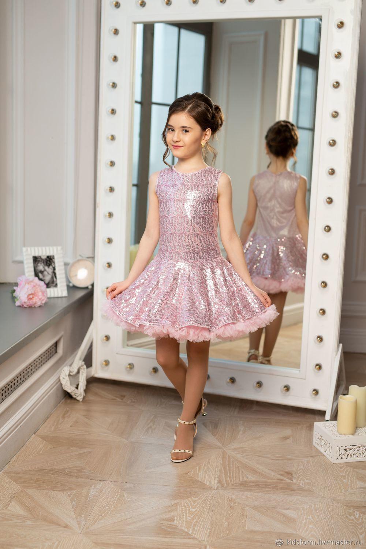 Нарядное платье для девочки в стиле ретро Стиляги