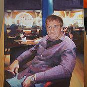 Картины и панно ручной работы. Ярмарка Мастеров - ручная работа Мужской портрет. Handmade.