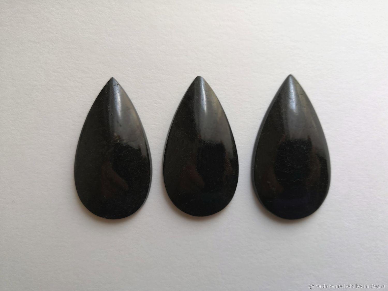 Для украшений ручной работы. Ярмарка Мастеров - ручная работа. Купить Кабошон черный турмалин, шерл, (9 грамм). Handmade.