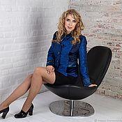 Одежда handmade. Livemaster - original item Designer Jacket in the style of patchwork Royal Blue. Handmade.