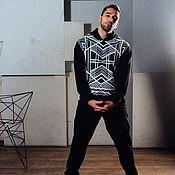 Одежда ручной работы. Ярмарка Мастеров - ручная работа Комплект Худи + штаны Графика. Handmade.