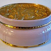 Винтаж handmade. Livemaster - original item LARGE JEWELRY box Pink porcelain Haas & Czjzek VINTAGE CZECHOSLOVAKIA. Handmade.
