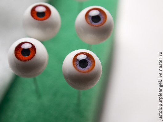 Куклы и игрушки ручной работы. Ярмарка Мастеров - ручная работа. Купить Глаза 9-12 мм. Handmade. Глаза для игрушек