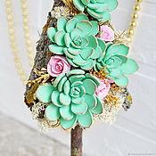 Подарки к праздникам handmade. Livemaster - original item Tree rose pink. Handmade.