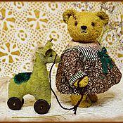 Куклы и игрушки ручной работы. Ярмарка Мастеров - ручная работа Маша и Травка(классический мишка Тедди, выкройка 1940 года). Handmade.
