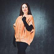 Одежда ручной работы. Ярмарка Мастеров - ручная работа Жакет куртка  кокон из шерсти Пион. Handmade.