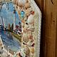 """Часы для дома ручной работы. Часы настенные """"Море, море..."""". Галина 'Душевные подарки' (gm2508). Ярмарка Мастеров. ракушки"""