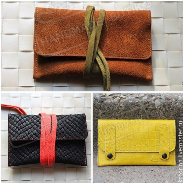 0d8cc0394c A pouch for tobacco made of suede and leather lace-UPS and buttons ...