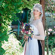 Свадебный салон ручной работы. Ярмарка Мастеров - ручная работа Свадебное платье с мушками. Handmade.