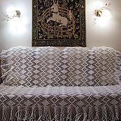Для дома и интерьера ручной работы. Ярмарка Мастеров - ручная работа Плед-покрывало  Винтаж  вязаный на диван, кровать, кресло. Handmade.