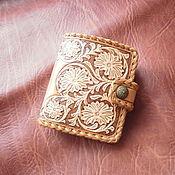 кошелёк портмоне из  кожи кошелёк женский кожаный ручной работыб