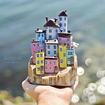 """Для дома и интерьера ручной работы. Ярмарка Мастеров - ручная работа Морская композиция """"Чинкве-Терре"""" driftwood. Handmade."""