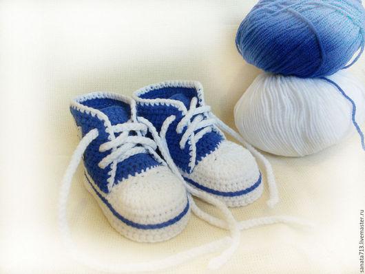 Детская обувь, пинетки кеды, пинетки, пинетки вязаные, обувь ручной работы, спортивная обувь, обувь, детские пинетки, пинетки кроссовки