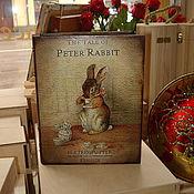 """Для дома и интерьера ручной работы. Ярмарка Мастеров - ручная работа Шкатулка-книга """"Кролик Питер"""". Handmade."""