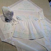 Работы для детей, handmade. Livemaster - original item Baptismal kit