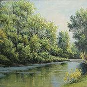 Картины и панно handmade. Livemaster - original item On the river . Summer.. Handmade.