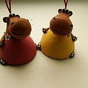 Колокольчики ручной работы. Ярмарка Мастеров - ручная работа Колокольчик Бегемот. Handmade.