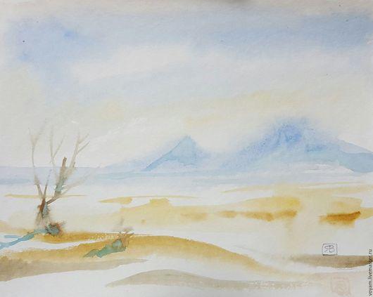 Пейзаж ручной работы. Ярмарка Мастеров - ручная работа. Купить пустыня. Handmade. Желтый, лучший подарок, жаркое лето