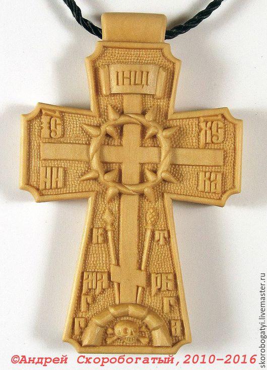 """Подарки для мужчин, ручной работы. Ярмарка Мастеров - ручная работа. Купить Крест нательный """"Терновый венец"""" именной с молитвой.. Handmade."""