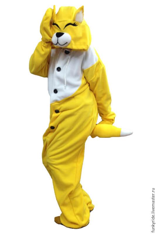 Costume kigurumi Fox yellow FUNKY YELLOW FOX KIGU, Cosplay costumes, Magnitogorsk,  Фото №1