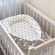 Текстиль ручной работы. Ярмарка Мастеров - ручная работа Гнездышко кокон для новорожденного, балдахин, юбка на кровать. Handmade.