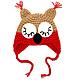 """Шапки и шарфы ручной работы. Заказать шапочка """"Совушка"""" (детская шапка сова теплая зимняя с ушками). Костюмы и шапочки для фотосессии. Ярмарка Мастеров."""