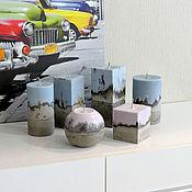 Сувениры и подарки handmade. Livemaster - original item Candle in the concrete. Handmade.