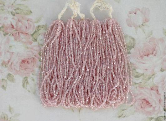 Для украшений ручной работы. Ярмарка Мастеров - ручная работа. Купить РЕЗЕРВ! Винтажный богемский бисер, цвет светло-розовый. Handmade.