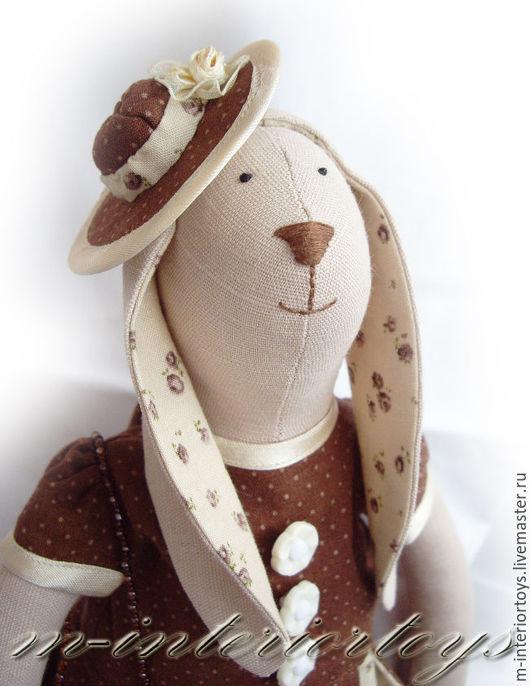 Куклы Тильды ручной работы. Ярмарка Мастеров - ручная работа. Купить Тильда заяц Зоя. Handmade. Бежевый, тильда кукла