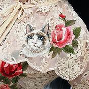 Одежда handmade. Livemaster - original item Creative guipure blouse