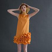Одежда ручной работы. Ярмарка Мастеров - ручная работа Платье с юбкой из воланов. Handmade.