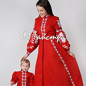 Одежда ручной работы. Ярмарка Мастеров - ручная работа Комплект для мамы и дочки ,бохо стиль ,Bohemian,этно. Handmade.