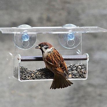 """Для дома и интерьера. Ярмарка Мастеров - ручная работа Кормушка для птиц на присосках """"Арт балкон"""". Handmade."""