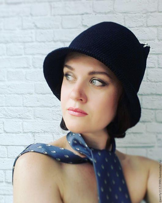 """Шляпы ручной работы. Ярмарка Мастеров - ручная работа. Купить Шляпа клош с ушками кошки """"Classic"""". Handmade. Черный, клош"""