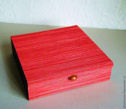 """Упаковка ручной работы. Ярмарка Мастеров - ручная работа. Купить коробочки """"Бамбук 16"""" красные с черным бочком. Handmade. шкатулка"""