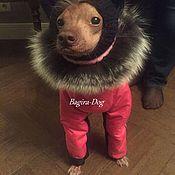 """Для домашних животных, ручной работы. Ярмарка Мастеров - ручная работа Зимний комбинезон для Ксоло, КХС, Перуанских собак """"Розовый """". Handmade."""