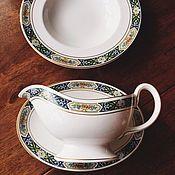 Винтаж handmade. Livemaster - original item gravy boat and soup plate Royal Worceseter Manor House England. Handmade.