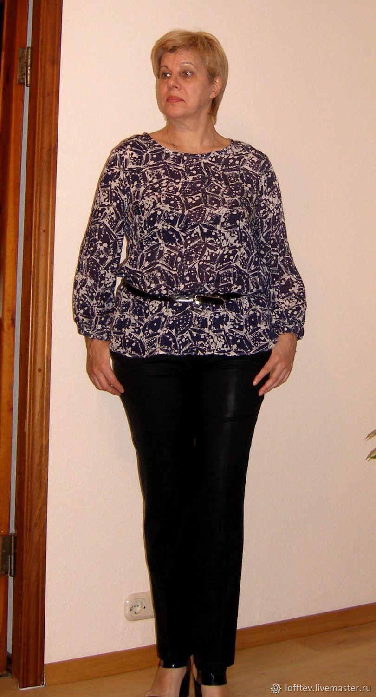 131125ef672 Блузки ручной работы. Ярмарка Мастеров - ручная работа. Купить Блузка  натуральный шелк (крепдешин ...