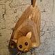 Элементы интерьера ручной работы. Вот такая кошка. Дмитрий Залётов изделия из дерева. Интернет-магазин Ярмарка Мастеров. Бежевый