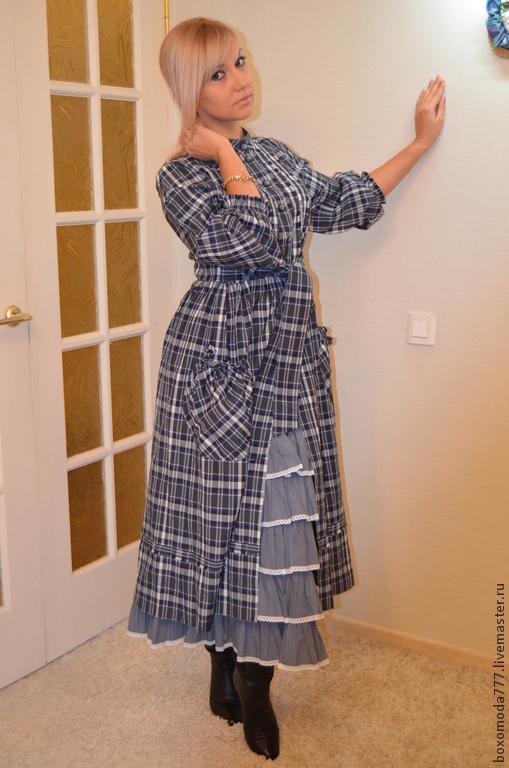 Платья ручной работы. Ярмарка Мастеров - ручная работа. Купить платье бохо стиль. Handmade. Тёмно-синий, весна, для девушки