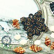 """Брошь-булавка ручной работы. Ярмарка Мастеров - ручная работа Брошь """"Джинс"""". Handmade."""