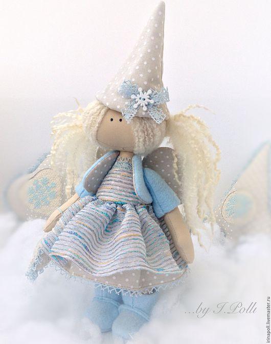 Коллекционные куклы ручной работы. Ярмарка Мастеров - ручная работа. Купить Ангел морозного утра Текстильная кукла. Handmade. Голубой