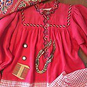 Русский стиль ручной работы. Ярмарка Мастеров - ручная работа Рубаха женская вологодская. Handmade.