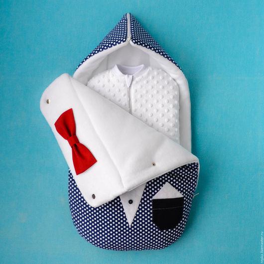 Для новорожденных, ручной работы. Ярмарка Мастеров - ручная работа. Купить Утепленный кокон для малыша.. Handmade. Рисунок, новорожденному, в коляску