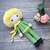 "Куклы и игрушки handmade. Livemaster - original item Вязаные куколки крючком ""Маленький принц"". Handmade."