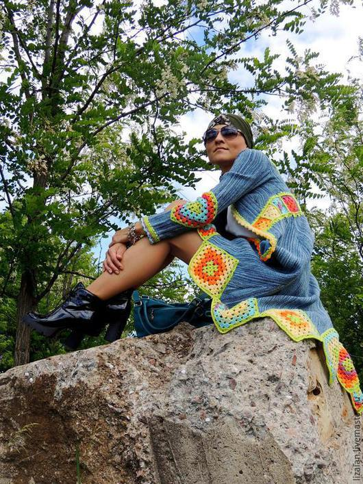 Пиджаки, жакеты ручной работы. Ярмарка Мастеров - ручная работа. Купить Кардиган женский в стиле бохо. Handmade. Кардиган женский