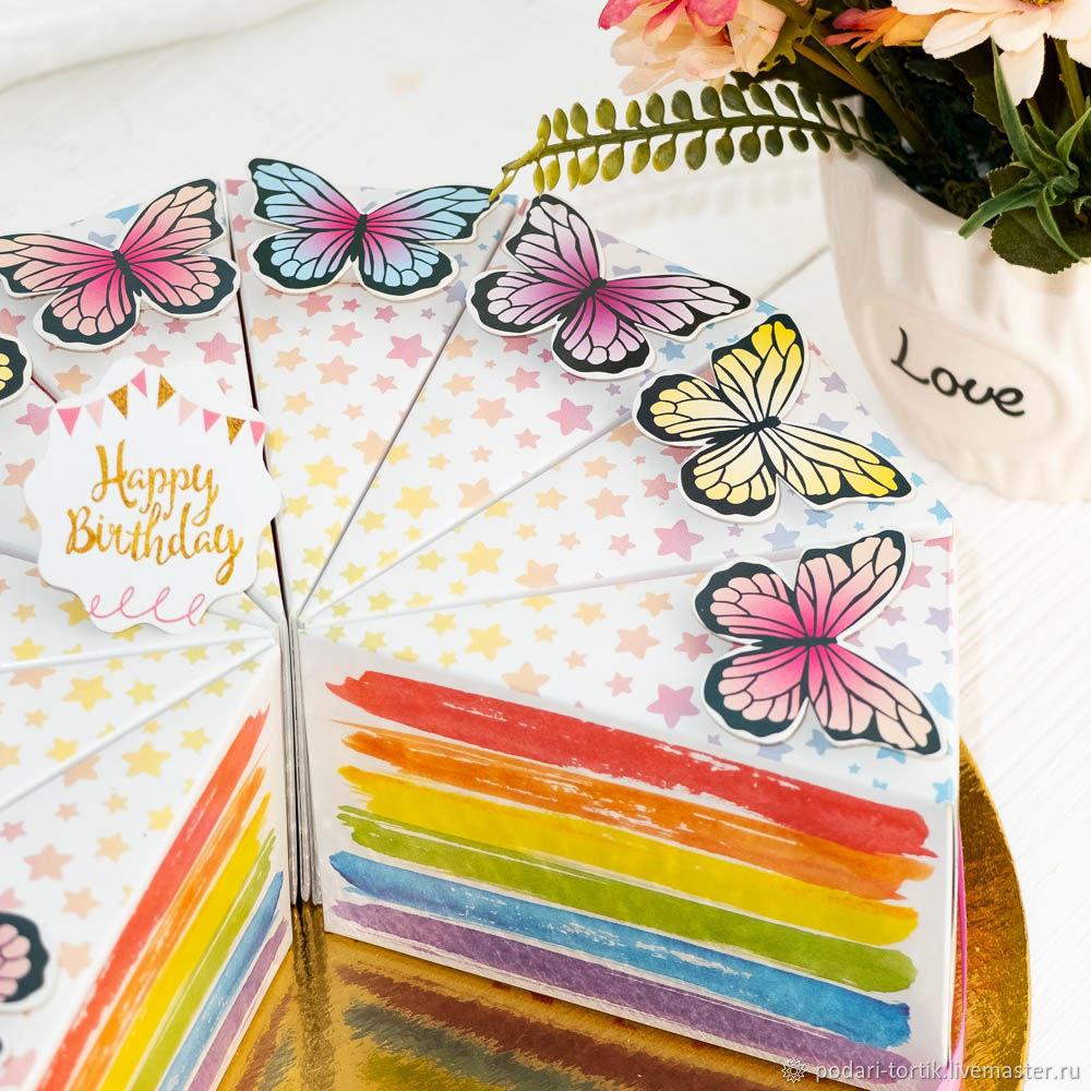 Бумажный торт Подарок на 8 марта, маме, сестре, жене, воспитателю, Фотокартины, Белгород,  Фото №1
