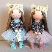 Куклы и игрушки ручной работы. Ярмарка Мастеров - ручная работа Сестрички-подружки, интерьерная текстильная кукла. Handmade.